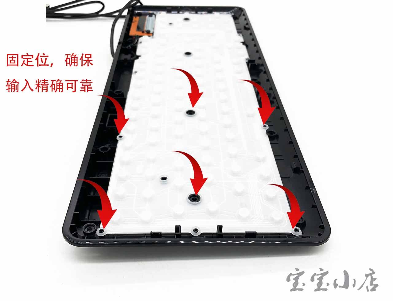 旭丽代工宏基ACER SK9662 SK9022A USB keyboard black巧克力静音键盘可拆卸水洗 游戏无声 商家二用