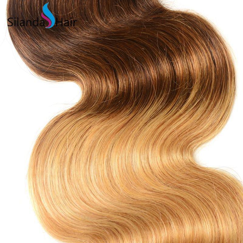 Silanda Ombre Color #T 1B/4/27 Body Wave Bundles