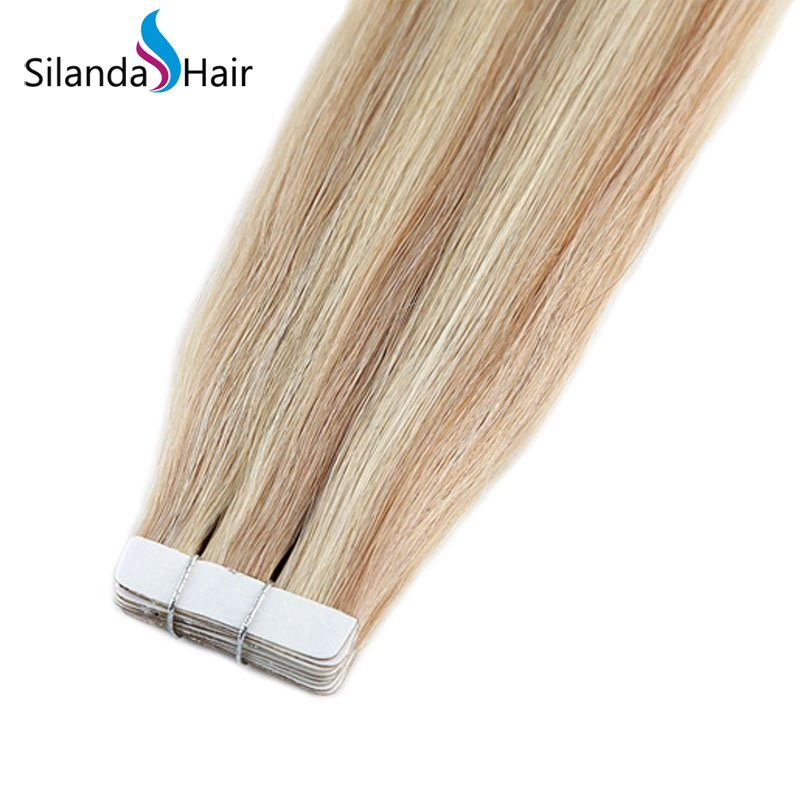 Silanda Hair #P18K/613 Luxury Remy Skin Weft