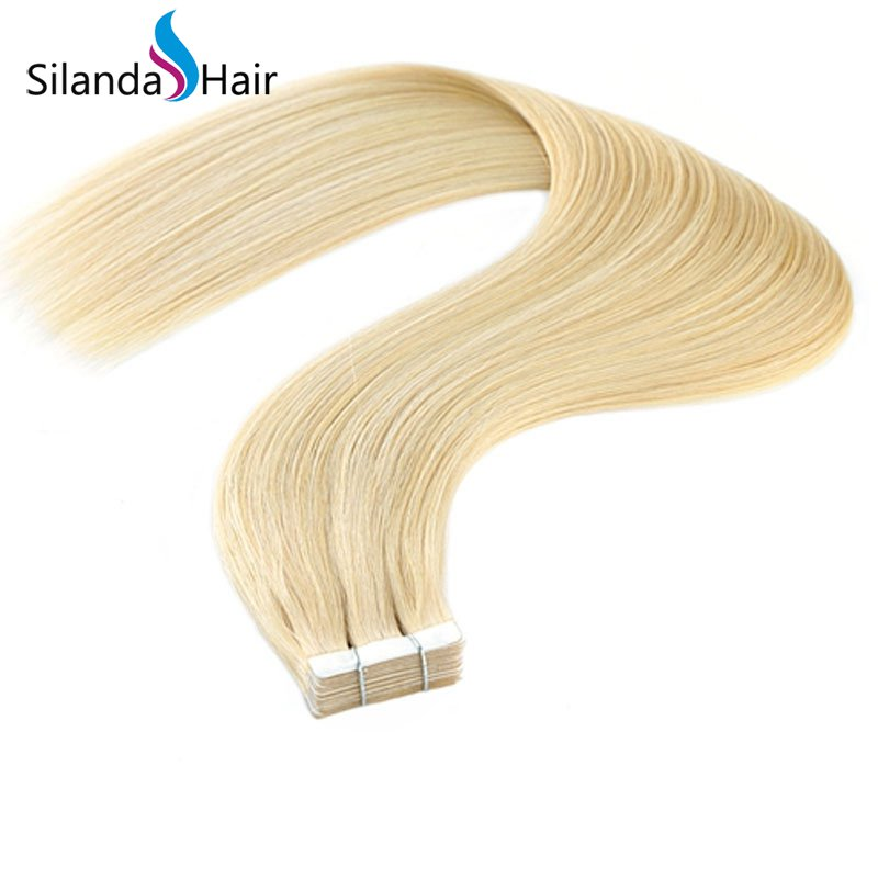 Silanda Hair #613 Luxury Remy Skin Weft 16 Inch 20 Inch 24 Inch Tape In Human Hair Extensions 20 pcs/pack