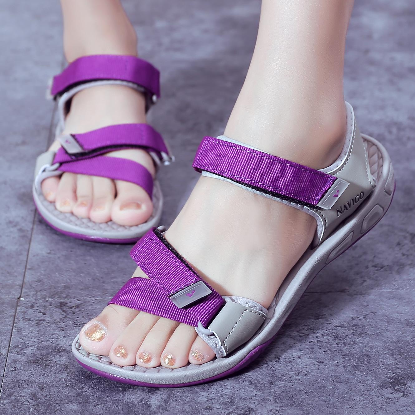 韩版时尚学生罗马鞋凉鞋原宿v时尚2019新款夏季越南女士平跟沙滩鞋