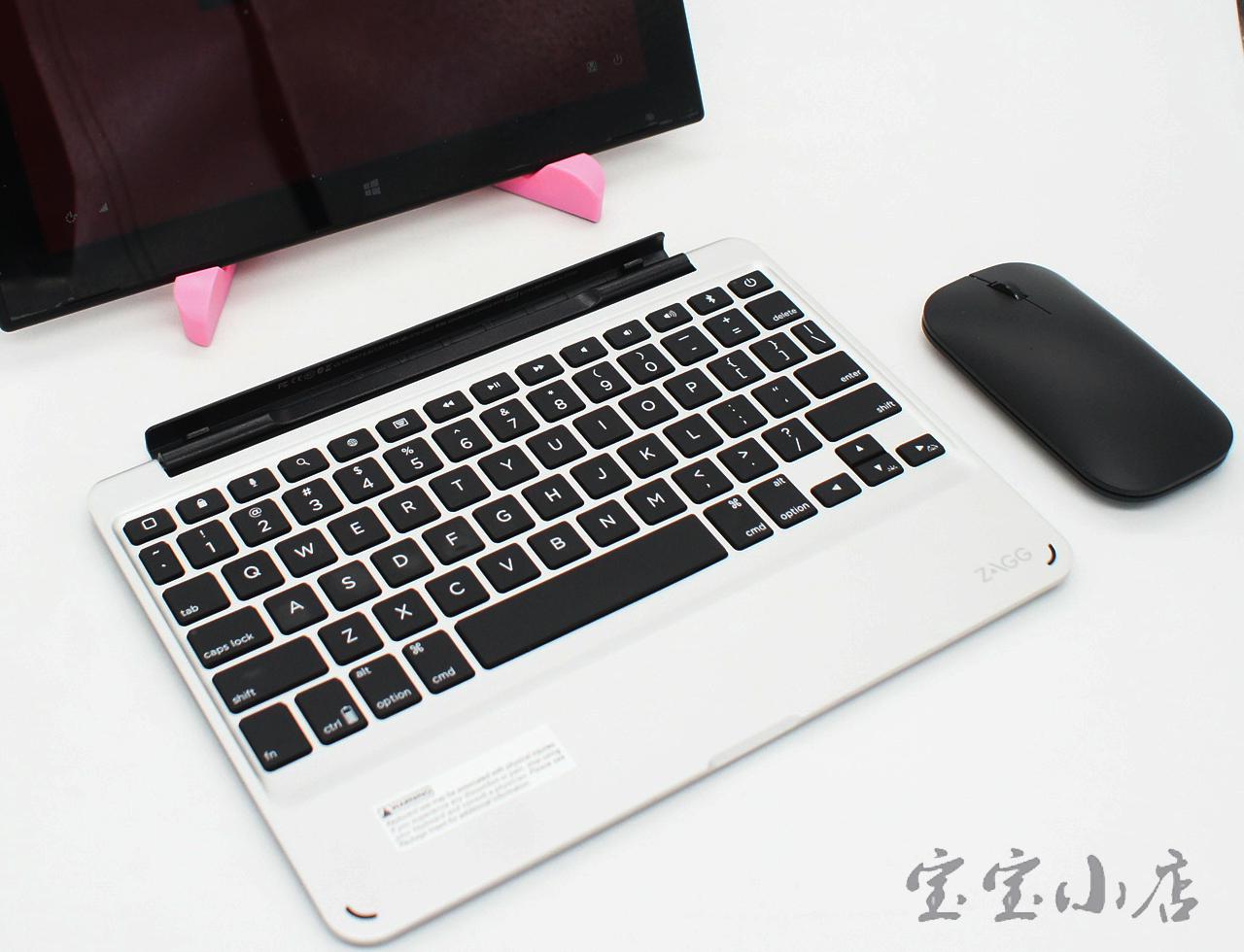 新到货120片ZAGG Slimbook 巧克力便携小轻薄静音背光无线蓝牙键盘平板办公家用女生苹果 QTG-ZKCS