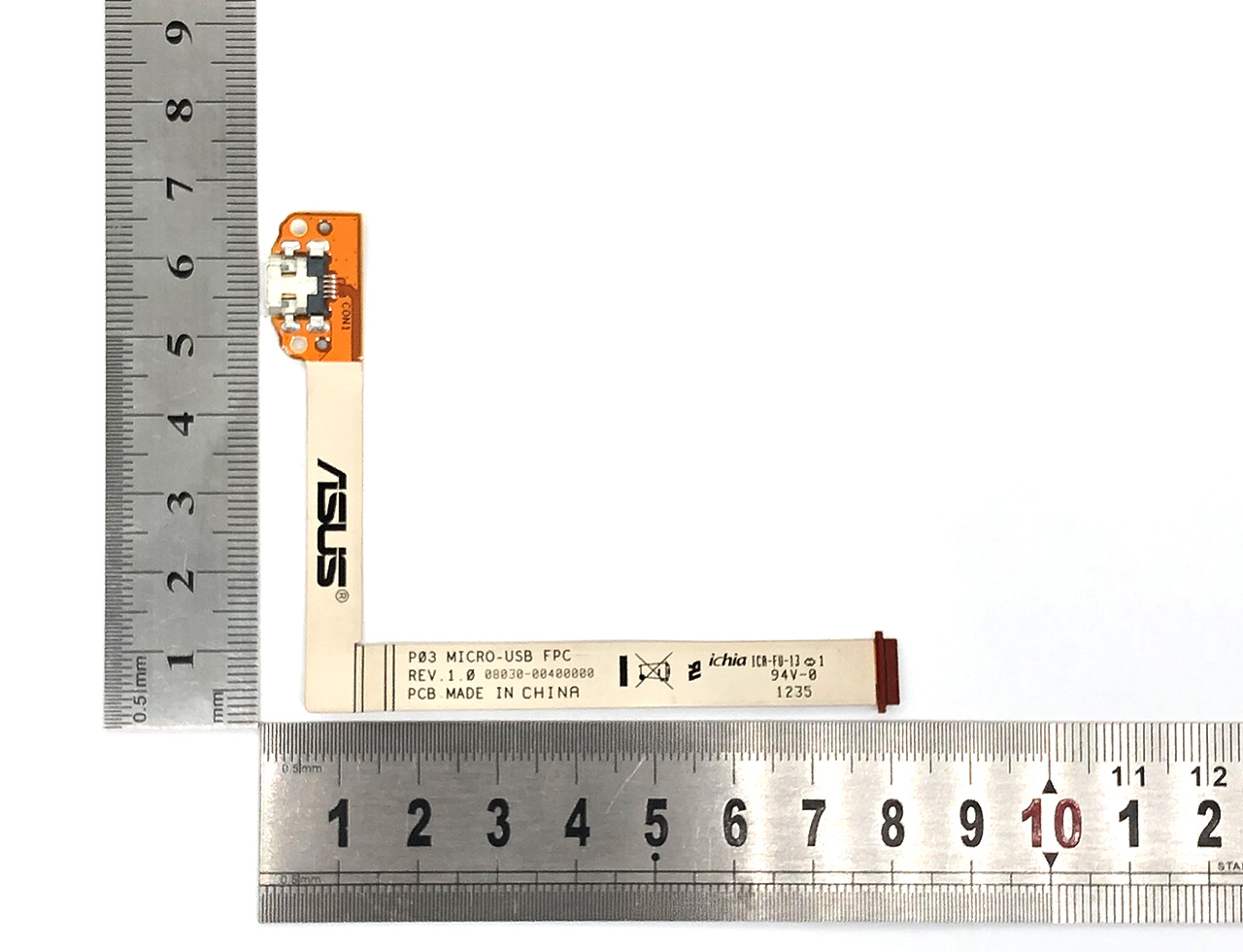 华硕充电排线接头ASUS P03 Micro-USB FPC REV 1.0 0830-00400000 Padfone 2 Station P03 A68 Micro USB尾插电源接口 数据传输排线