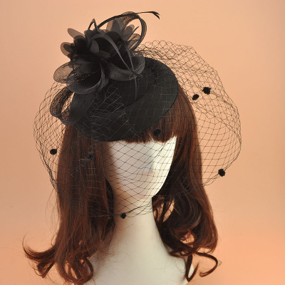 Wedding Party Hats Flower Mesh Ribbons Feathers Hat