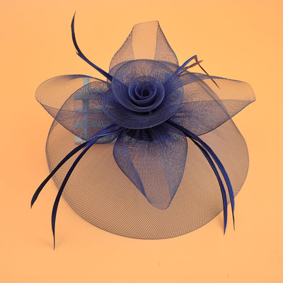 Wedding Party Hats Flower Mesh Ribbons Feathers Hat Mesh Hat Ribbons Hairpins for Wedding Party Hair Clip