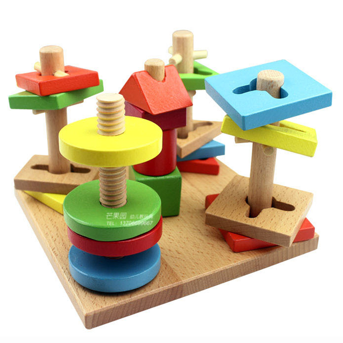 Foreign trade early learning preschool puzzle wooden toys five column sets column colorful wisdom plate set column ...  sc 1 st  YoYCart & trade early learning preschool puzzle wooden toys five column sets ...