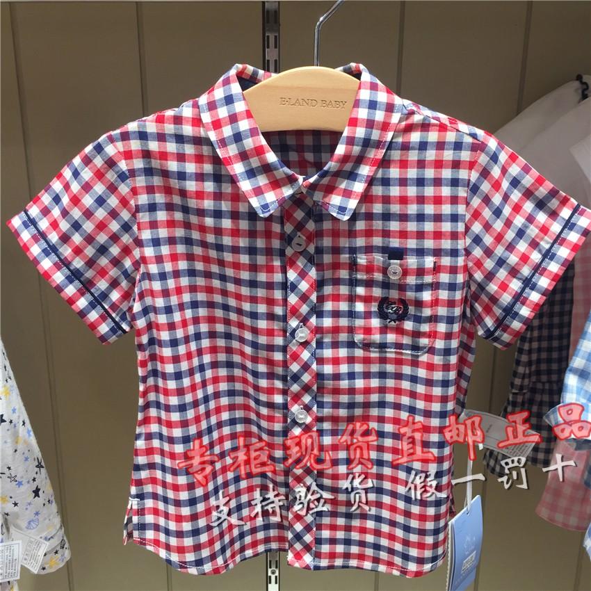 童装专柜依恋衣恋BABY男婴19正品新款夏装衬衫格子幼儿EKYC9250192501L
