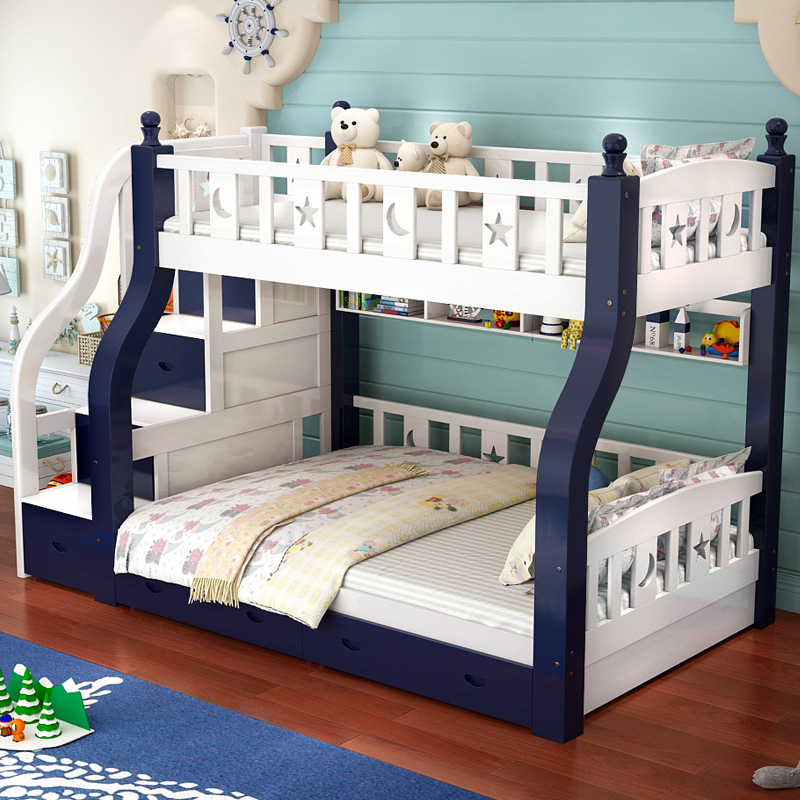 Children S Bed Bed Boy Solid Wood Mother Bed Girl Bunk Bed