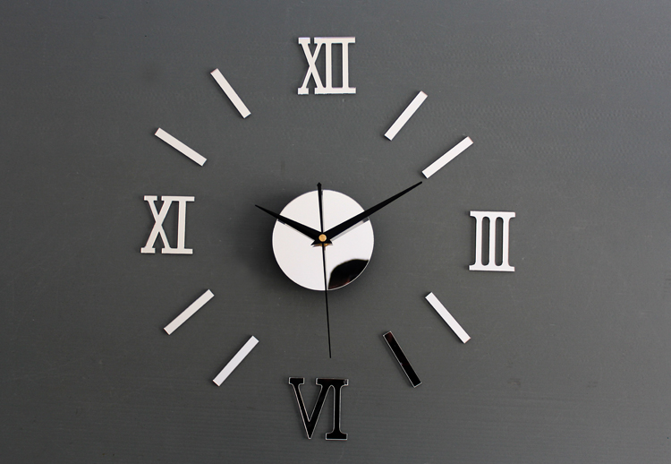 Buy Metallic Diy Fun Clock Wall Clock Fashion Creative Wood Wall Clock Diy Combination Riveted Roman Digital Clock On Ezbuy Sg