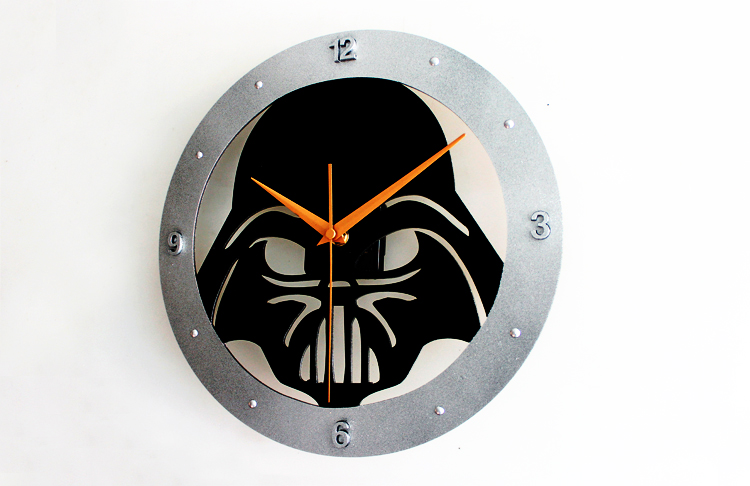 Star Wars Wall Clock Darth Vader Home Decor Clocks