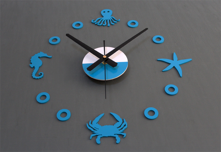 Mediterranean DIY Wall Clock Watch Home Decor Starfish ...