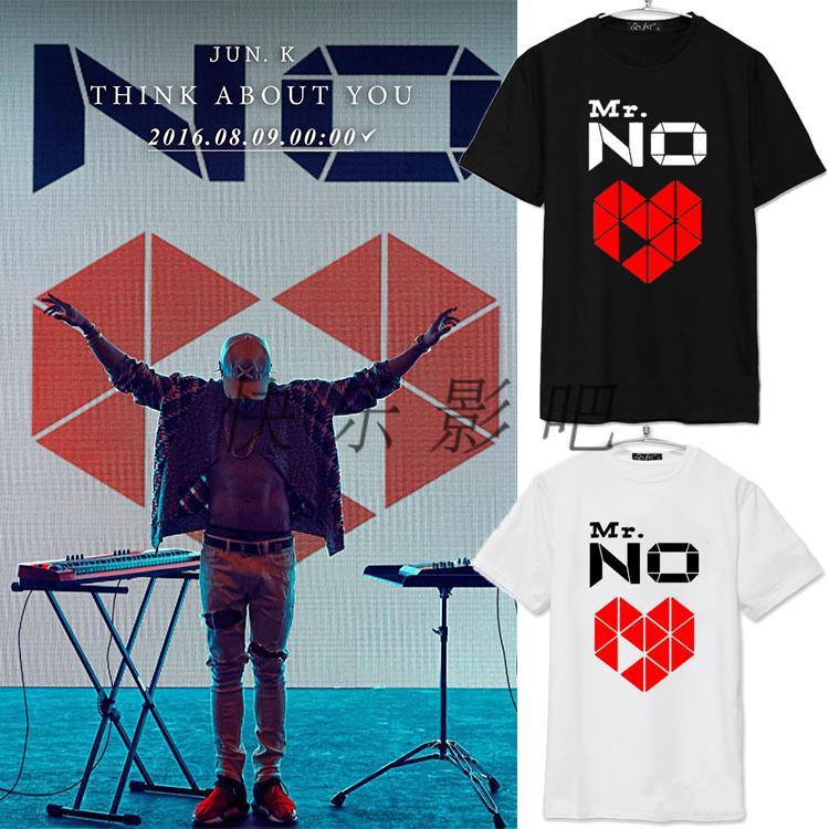 2PM金峻秀JUN.KSOLO专辑Mr.NO演唱会男女同款T恤周边短袖应援服