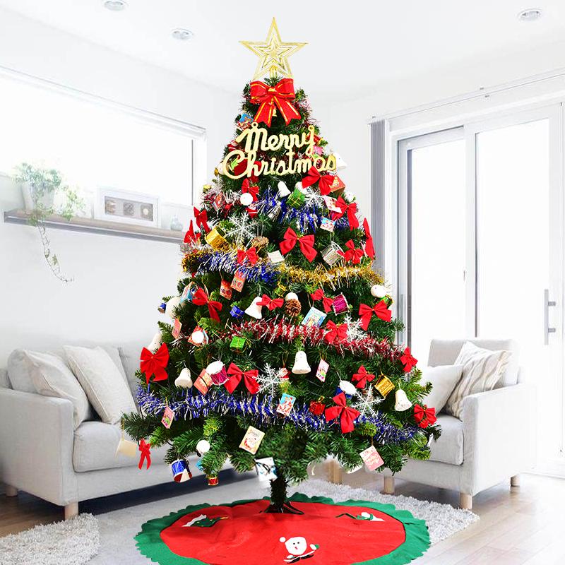 豪华加密1.5米1.8米2.1家用圣诞树套餐装圣诞节装饰品大小型60cm