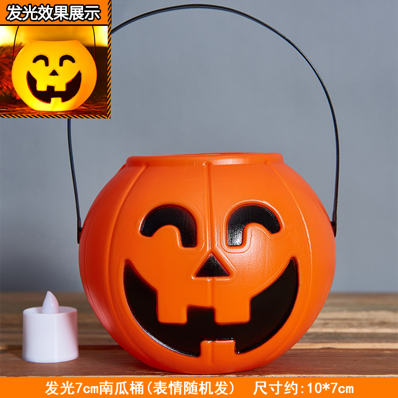 7cm Pumpkin Bucket + Candle Yellow