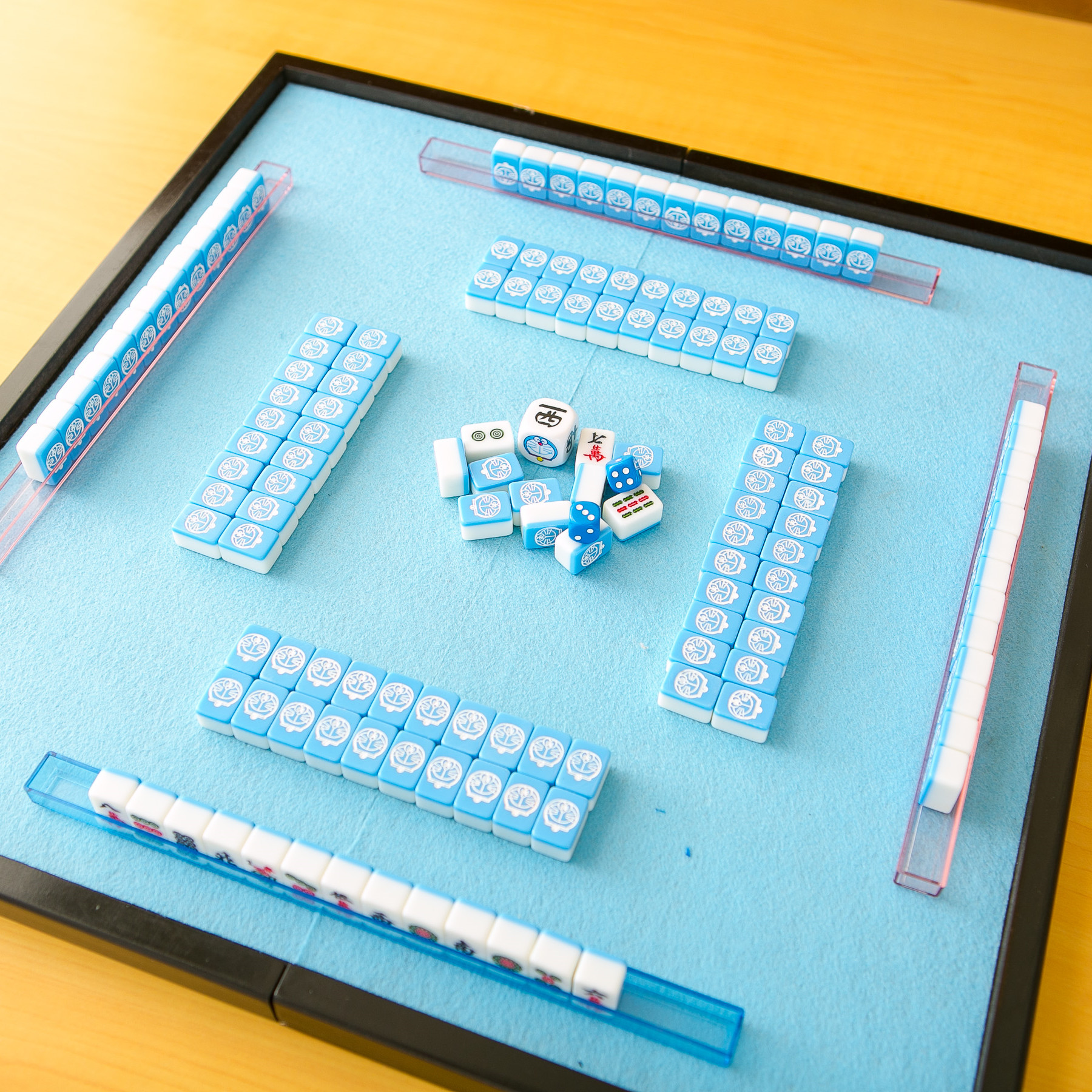 USD 29.82] A dream cartoon high-end home small mini travel Mahjong ...