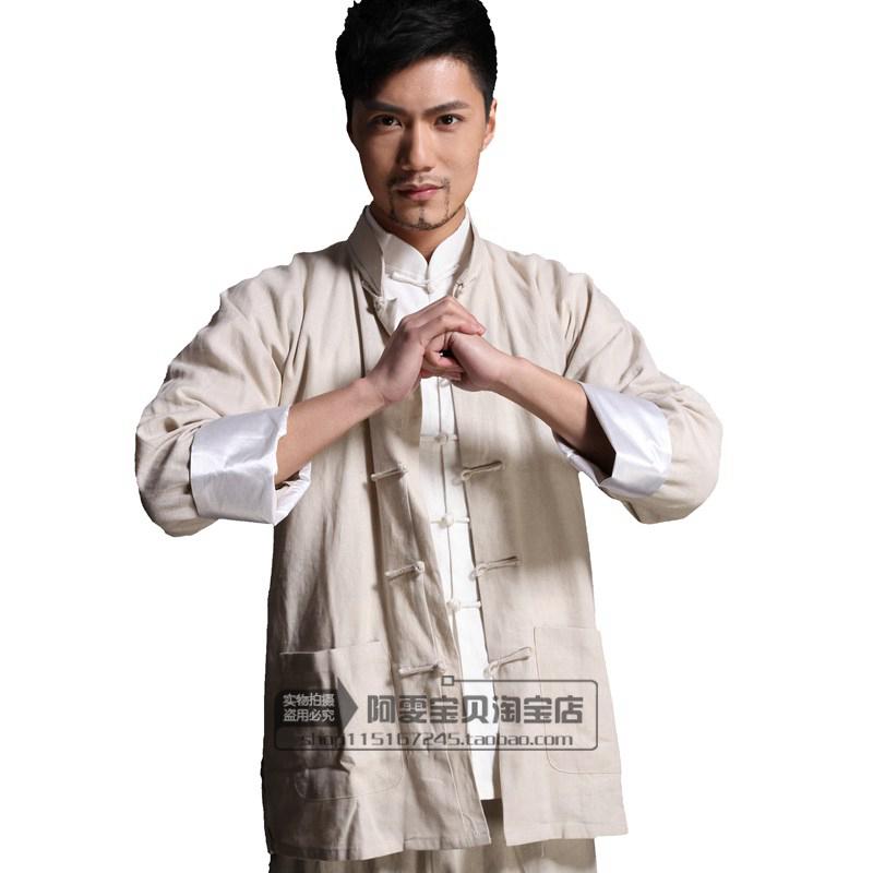 Bruce Lee clothes suit ancient monk Monk robe Horse Men Chinese