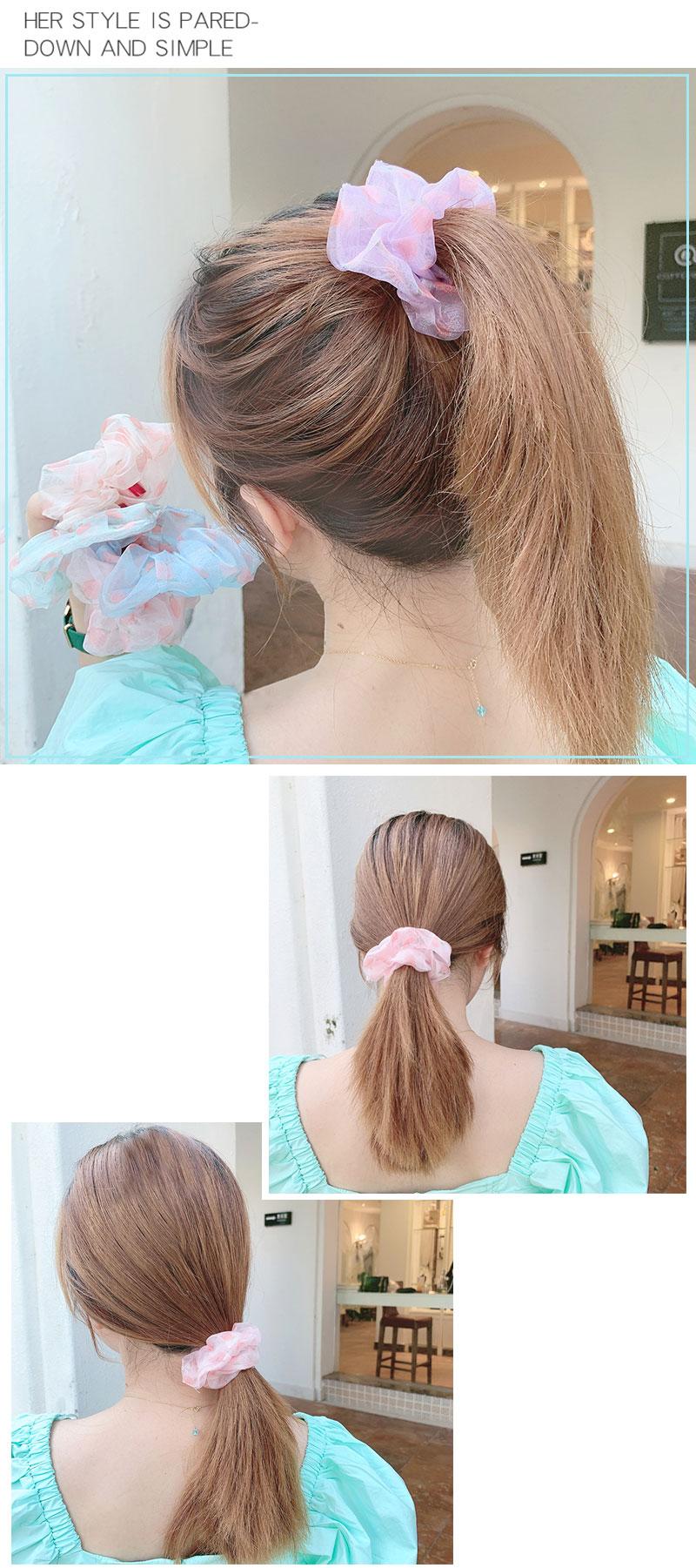 Summer hair scrunchies peach girl fruit cloth peach sweet large intestine circle hair circle simple tie head rope wholesale nihaojewelry NHOF229659