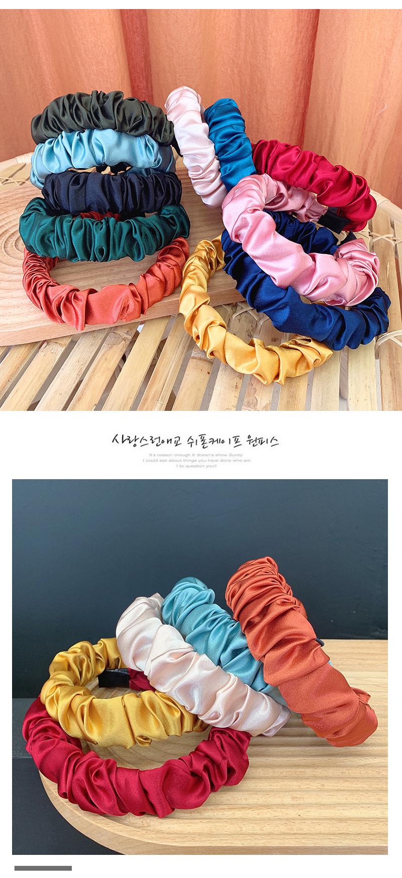 Korean new fashion fold cute cheap headband wholesale NHOF211385