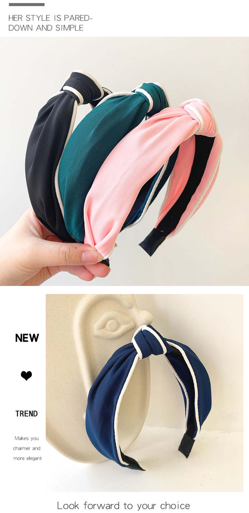 Spring new fashion retro simple knotted cheap hair hoop women NHOF203850