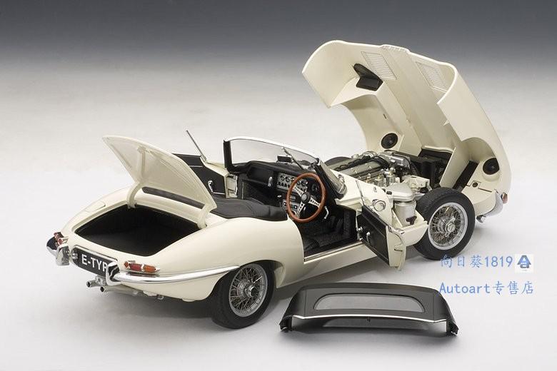1:18車模 AUTOART 1/18 捷豹 JAGUAR E-TYPE  I 3.8 敞篷合金汽車模型