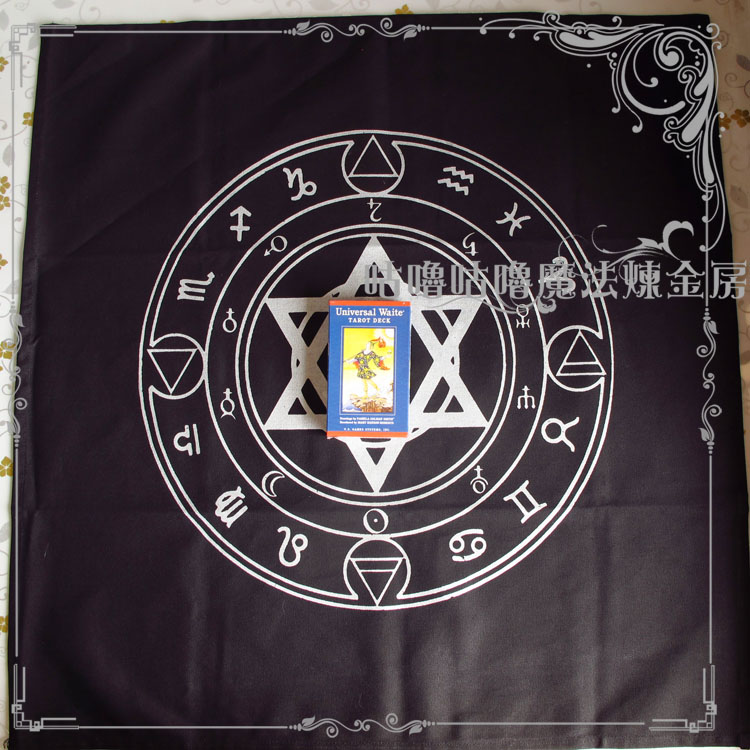 Altar tarot tablecloth decor divination cards square wicca for Decorative tarot cards