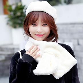韩版新款仿兔毛围巾秋冬时尚保暖脖套