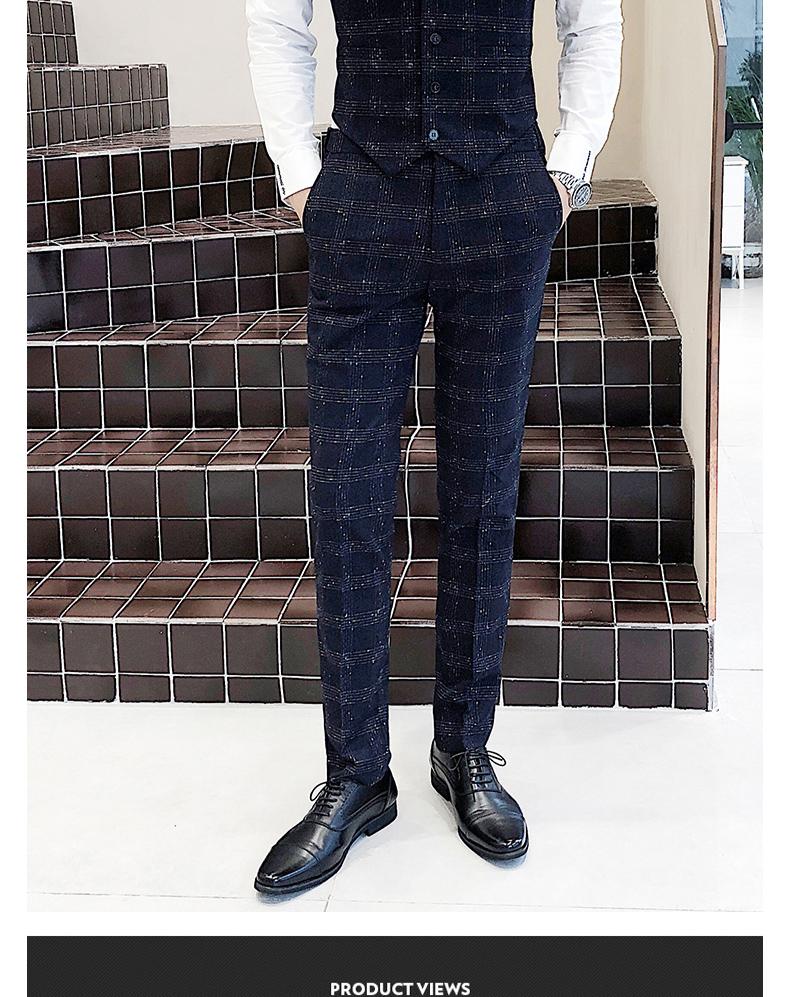 新款西服套装男士三件套商务正装职业西装修身西装305A-XF26-P285