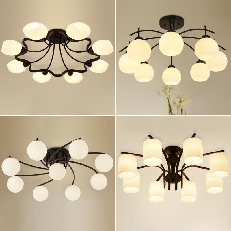 美式乡村田园温馨LED吸顶灯北欧卧室现代简约客厅灯餐厅房间灯具