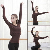 Practicing clothes modern dance top long sleeve female adult new dress teacher Winter