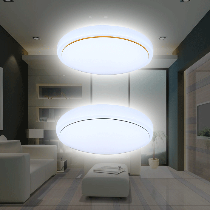 Simple Cloakroom Round Led Milk White Glass Ceiling Light Corridor Balcony Porch Ceiling Lamp Ceiling Lights & Fans