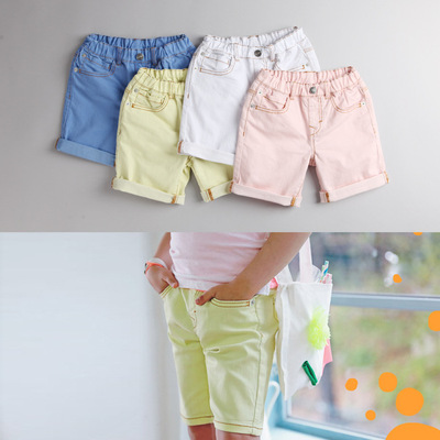 Children's clothing girls shorts 2017 summer new children's boys loose casual pants girls cotton pants