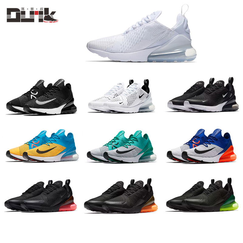 newest b7bb3 0fb2f Nike Air Max 270 FLYKNIT men and women leisure fly line air cushion running  shoes AH6789 AH8050-001