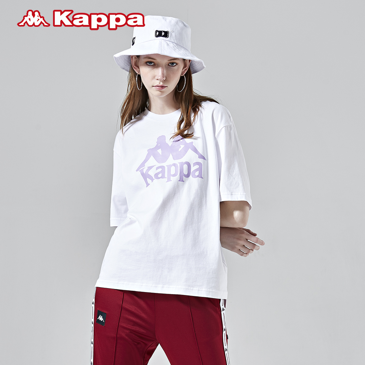Kappa卡帕女装2019新款短袖T恤圆领图案衫-K0922TD11