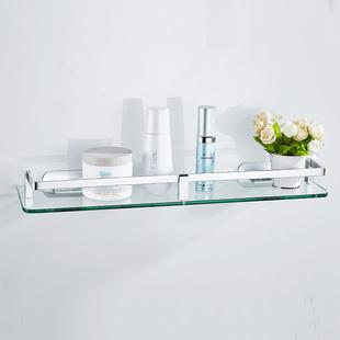 免打孔太空铝浴室玻璃置物架