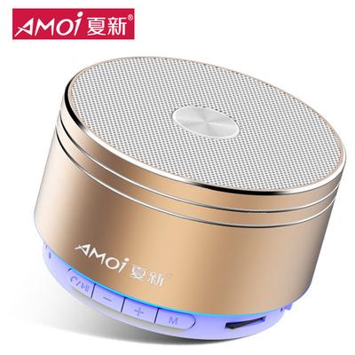Amoi/夏新 K2无线蓝牙音箱超重低音小钢炮手机迷你电脑音响插卡户外便携式车载微信收款语音提示播报器