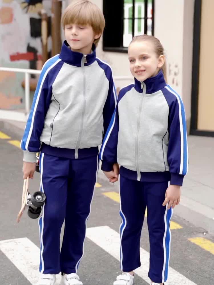 Hohe Schuluniform OEM Schuluniform Sommer Herbst Winter jungen mädchen sport anzüge für grundschule uniformen angepasst