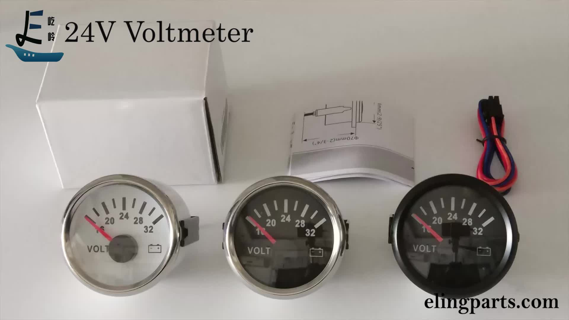 "2"" 24V Voltmeter Volt Gauge Meter 24V/16-32V With Backlight"