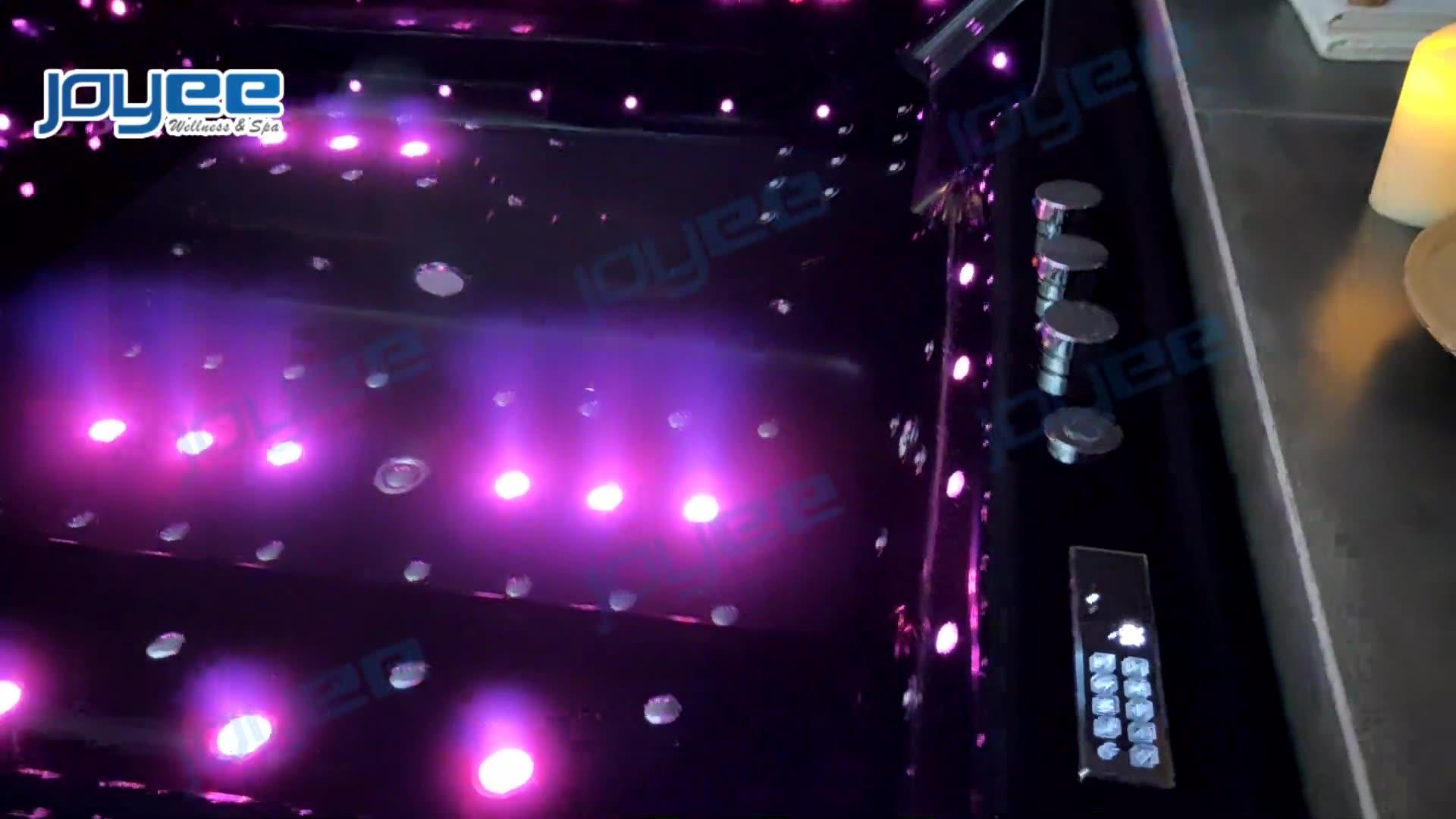 Черная акриловая ванна JOYEE/Гидромассажная ванна/современная роскошная гидромассажная Ванна большого размера на 2 и 3 человек, гидромассажная Ванна, массажная ванна с сиденьем