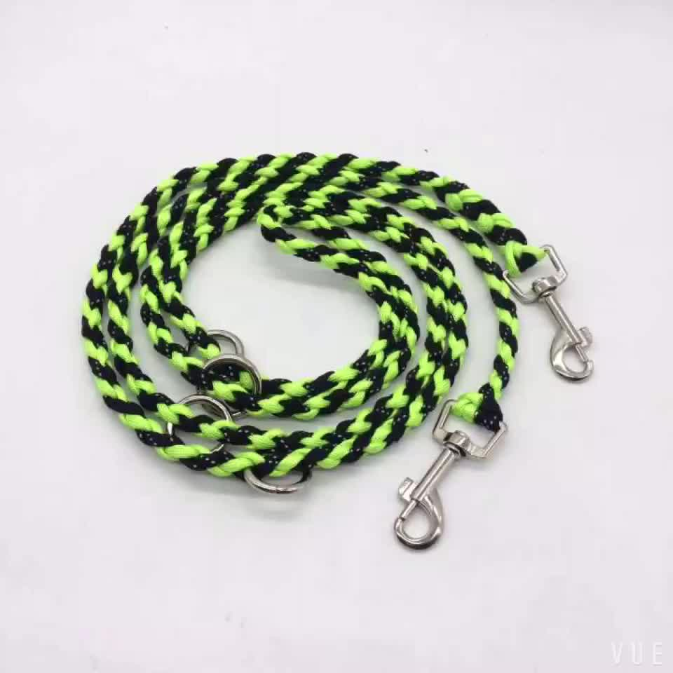 New handmade style survival led dog leash paracord handmade animal leash for camping