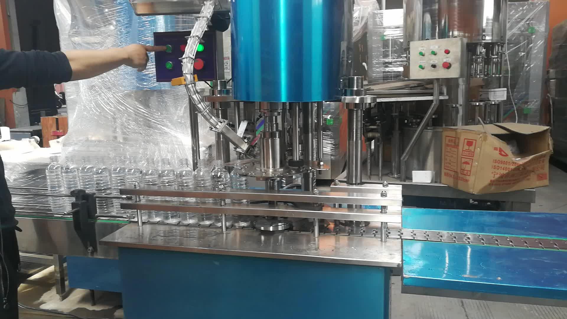 Gargalo de garrafa de aperto PET 2000BPH separada de lavagem de enchimento e vedação de máquinas