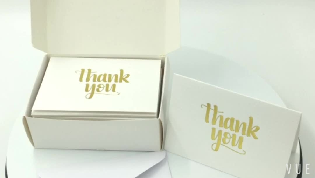 2018 Designs thank you cards pack Custom Printed or Foil Thank You Cards Pack