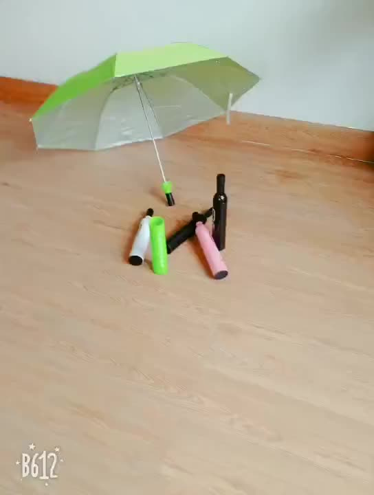 8 פנלים 21 אינץ 3 קיפול מטריית פרסום יין בקבוק צורת מטרייה