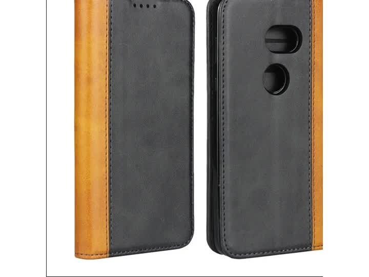 Two color Luxury Calf Skin Leather Magnetic Flip Cover Wallet Phone Case For Aqous Zero 801SH