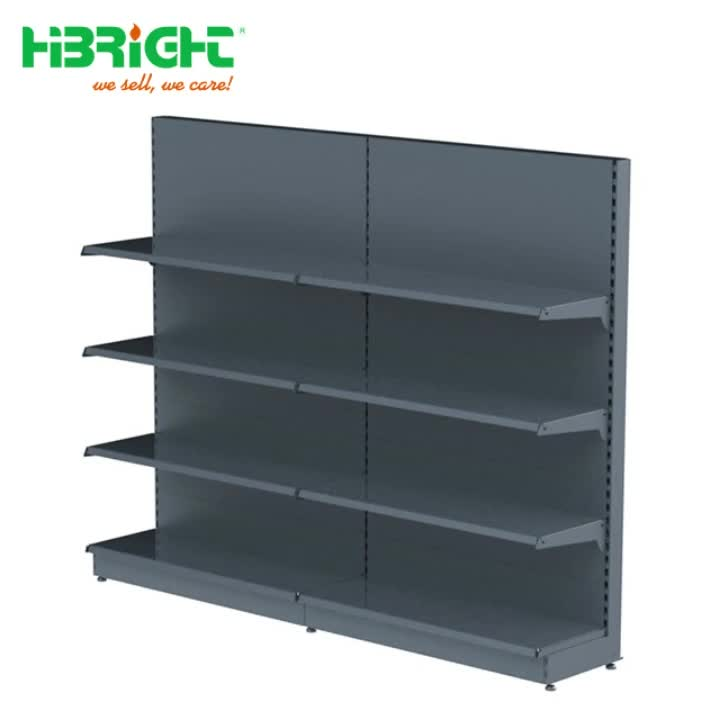 Euro Popular Double-side Big duty 4-shelf Gondola Shelving