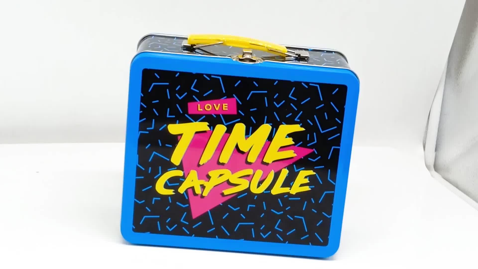 사용자 정의 금속 평방 선물 주석 상자를 포장 쿠키
