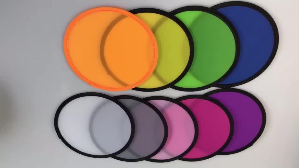 Forma di T A Buon Mercato su misura pieghevole di nylon rotondo pieghevole ventilatore della mano