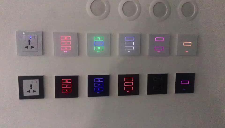 Universal remote control Lanbon smart EU WiFi 3 gang wall light switch zigbee smart home