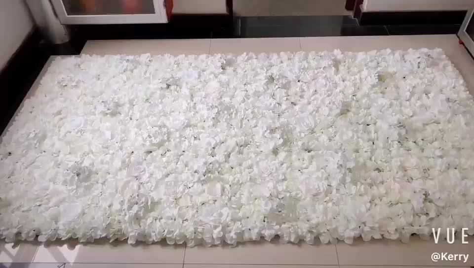 F-1606 Ins Rabatt Floral Hochzeit Bühne Dekor 40*60 CM Weiß Rose Panels Künstliche Blume Wände Hintergrund