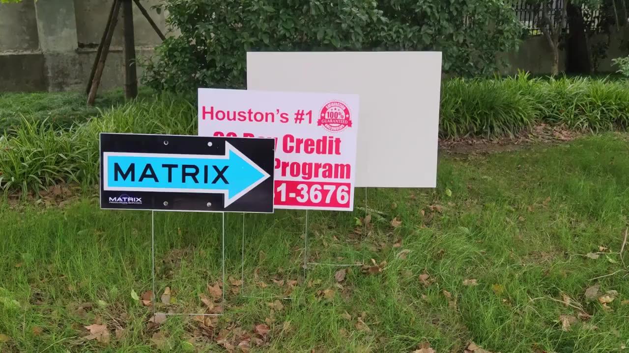 corrugated plastic sign Happy Birthday Yard Greeting Rental Signs