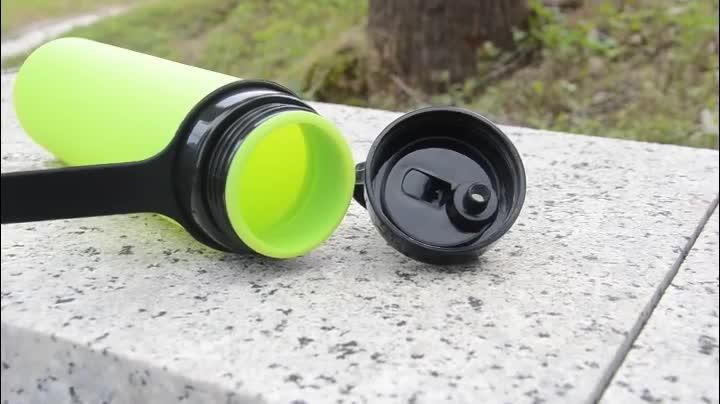 600 ML Del Silicone Su Misura per Viaggi di Campeggio Esterna Pieghevole Riutilizzabile di Plastica Sport Bottiglia di Acqua Potabile